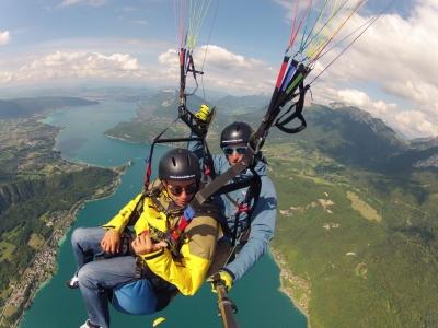 Balade prestige en parapente biplace - Vol en parapente depuis le sud du Lac d'Annecy, Haute-Savoie